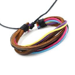 Wholesale Wholesale Charm Bracelets For Cheap - New Fashion Jewelry For Men Women Infinity Bracelets Handmade Multilayer Colours Braided Leather Bracelets Unisex Cheap Charming Bracelets