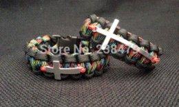 Wholesale Custom Paracord Buckles - Custom Paracord Bracelet with Cross Charm (custom colors and size) paracord buckle bracelet circle bracelet circle