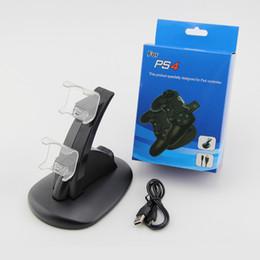 2019 controlador de carga ps4 Cargadores duales para ps4 xbox one controlador inalámbrico 2 usb Estación de carga de soporte de soporte de soporte de soporte para PS4 gamepad Playstation OTH670 controlador de carga ps4 baratos