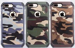 Case para iphone 7 plus 2in1 armadura de plástico híbrido + tpu exército camuflar  camuflagem traseira com especial à prova de choque tampa do telefone de ... 7137b1a8e8a