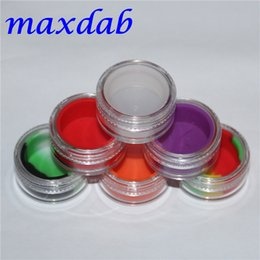 Wholesale Modern Acrylic - new 3ml acrylic wax containers silicone jar dab wax containers silicone dab jar glass oil containers with the free shipping
