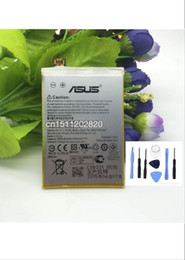Wholesale Asus Batteries - Wholesale-The cell phone battery for ASUS C11P1424 Zenfone 2 5.5inch Z00AD ZE551ML ZE550ML Z008D Battery free shipping+TOOLS