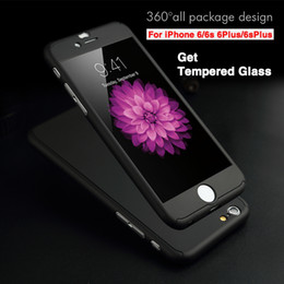 Wholesale Dhl Iphone Back Glass - 360 Full Edge Shockproof Tempered glass Case For iphone 7 Hard Back Cover For iPhone 6 6s Plus Samsung Galaxy S6 S7 DHL