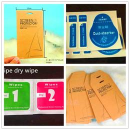 Canada Outils de nettoyage de film de verre trempé humide sec 2 en 1 essuyer l'autocollant de guide de poussière-absorbeur de détail pour le protecteur d'écran en verre trempé supplier retail packaging sticker Offre