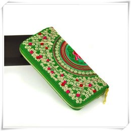 Wholesale High End Fabric Wholesale - Yunnan ethnic embroidery bag purse of the new national characteristics of high-end fashion lady long embroidery Wallet