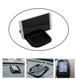 Wholesale Car Accessories Mats - Wholesale-Black Car Mobile Phone Holder Dashboard Sticky Pad Mat Anti Non Slip Gadget GPS Interior Item Accessories