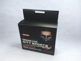 Wholesale Fitness Hooks - Newest Lead-out Sports Mask+Wireless Bone Conduction Headphone Bluetooth 4.0 wireless Headset fitness mask for Outdoor Sports DHL Free