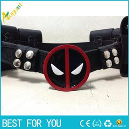 Wholesale People Heroes - New hot high quality super hero deadpool belt with 6 bags Waistband Wade T. Wilson Unisex Halloween Cosplay Accessories