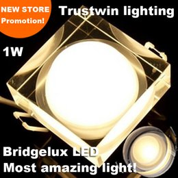 Wholesale Acrylic Crystal Ceiling Lamps - 110V 220V 1W 3W 5W 7W Mini decorative crystal cabinet down lamp Acrylic downlight LED ceiling downlight