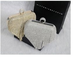 Wholesale Banquet Bags - 2016 Ladies Fashion Bag Woman Evening bag Diamond Rhinestone Clutches Crystal Clutch Wallet Purse for Wedding Party Banquet With Long Chain