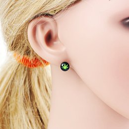 Wholesale Ear Studs Titanium - Bob Marley Ear Piercing Ear Stud Earrings Piercing RASTA Earpin RAGGAE Jamaica Tragus Ring Monroe Ear Cartilage Stud Earring Piercing