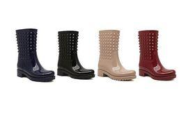 Wholesale Post Springs - free hongkong post~ u030 40 4 colors jelly studded rain boots