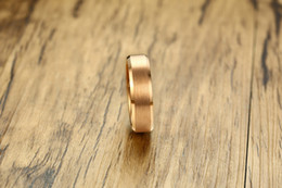 Wholesale 6mm Tungsten Carbide - Wedding Ring 6mm rose gold middle brushed Tungsten Carbide mens ring comfort fit HOT SALE in USA and Europe