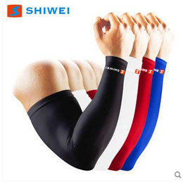 Wholesale Elbow Cuffs - Men's women's sports basketball volleyball riding running breathable lengthen elbow protective pads oversleeve cuff sleevelet