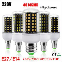 Wholesale Led 35w - Ultra Bright 12W 18W 25W 30W 35W Led Bulb E27 E14 GU10 G9 Led Lights SMD 4014 Led Corn Lights AC85-265V lamp bulbs Spotlight