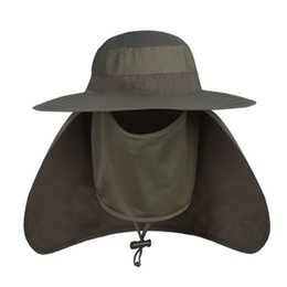 Wholesale Dome Round Hat - Wholesale-Outdoor Men Women Large Round Brim Sun Block Quick Drying Fishing Hats Summer Sun Cap For Travel Mountain Climbing Bucket Hat