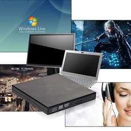 Wholesale 2016 Hot Sale External Black USB Slim x DVDRW DL DVD CD RW ROM Burner Writer Drive Optical All PC High Quality COMBO