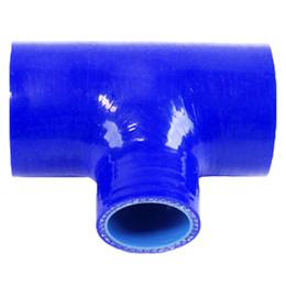 Tubi domestici online-Tubo blu universale T Tubi tubo silicone T Tubi tubo BOV 3 Lunghezza: 130mm * 25mm Silicone turbo Tubo silenziatore casa Tubo filtro aria