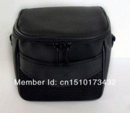Wholesale Coolpix Camera Bag - Waterproof and shockproof Camera Case Bag For Nikon Coolpix L120 L110 P500 P100 L810 L310 P510 L820 P520 Black Leather Soft