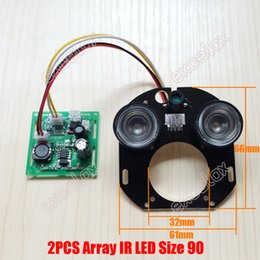 Wholesale Ccd Pcb Camera - DIY 2pcs Array LED IR 20-50M 42mil PCB Board Size 90 Infrared Night Vision 850nm for CCTV Security Waterproof Bullet Camera Case