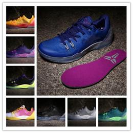 0695052990a2 2016 new arrival KB Zoom Kobe Venomenon 5 low blue white MD kobe 5s Mamba  MEN basketball shoes high quality sports sneakers 7-12