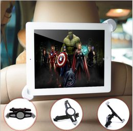 Wholesale Back Supports For Cars - 7-11 inch Universal Tablet PC Car Back Seat Holder 360 Degree Rotating Angle Adjustable Bracket Support For Tablet PC Notebook