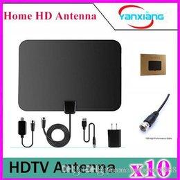 Wholesale Wholesale Tv Antennas - 10pcs Amplified TV Antenna - ANTRobut 50 Miles Range Super Thin Indoor TV Antenna YX-TX-1