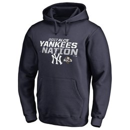 Wholesale 99 Silver - MLB NY YANKEES hoodies 99 Aaron Judge Postseason Participant Double Play Pullover sweatshirts