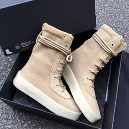 Wholesale Cut Snow - New Arrivals Taupe Suede Thick Bottom Crepe Ultral Boost Men Boots Cusual Style Super Star Shoes Men Lace-Up Men Ankle Boots