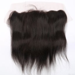 Wholesale Chinese Stockings - Silky Straight Ear to Ear 13*4 Lace Frontal with Baby Hair Natural Hairline Brazilian Straight Lace Frontal in Stock with Lace Cap