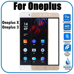 Wholesale One X Screen Protector - 0.33mm Full Cover Color Tempered Glass Protective Film For Oneplus X 3 Screen Protector Guard Film For One Plus X 3