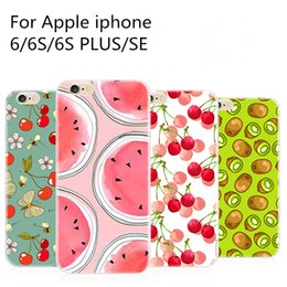 Wholesale Painting Apples - For Apple iphone 7 plu 6 6S plus SE hand-painted case Luxury ultra thin Plating Crystal Clear TPU Silicone Case Cell Phone Cases