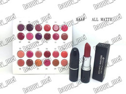Wholesale New Color Lipstick - Factory Direct DHL Free Shipping New Makeup Lips MAAA Matte Lipstick!3g