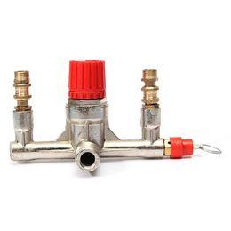 Wholesale Pressure Regulator Parts - Durable Quality Zinc Alloy Air Compressor Double Outlet Tube Pressure Regulator Valve Fitting Parts