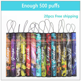 Wholesale Electronic Pen Pipe - E ShiSha Hookah Pen Disposable Electronic Cigarette Pipe Pen Cigar Fruit Juice E Cig Stick Shisha Time 500 Puffs Colorful 35 Flavors