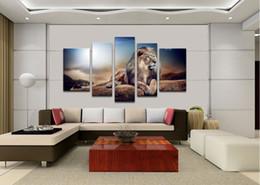 Wholesale 5pc Canvas Art - Oil Painting HD Print On Canvas Dec Wall Art,Lion King 5pc(No Stretch)