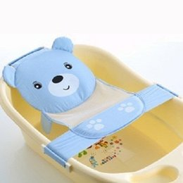 Wholesale Newborn Inserts - Toddlers Baby Bathtub Seat Support Sling Hammock Net Infant Bath Tub Sponge Pad Insert for Newborn Babies