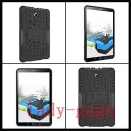 Wholesale Silicon Case Galaxy S2 - Rugged Impact Stand Shockproof Heavy Duty Case Cover For Samsung Galaxy tab 4 S S2 E T560 T580 T810 ipad pro 9.7