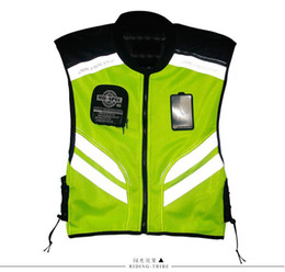 Wholesale reflective motorcycle jackets - Riding Tribe motorcycle motorbike bike racing high visible reflective warning jacket, JK22 Reflective Safety Clothing