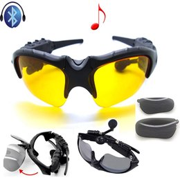 Wholesale Sharp Wear - Free shipping Wearing a bluetooth headset Wireless headset bluetooth glasses outdoor sport cycling sunglasses 4.0 4.1 multi-functional intel