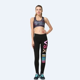 Wholesale Sexy Black Women Sports - Body Sculpting Fashion Yoga Pants Quick-Drying Bodybuilding Sweat Sports Trousers Female Jogging Tights Leggings Woman Sexy VSX LNSYL