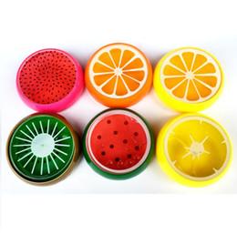 lehm früchte Rabatt Baby-Frucht-Kristallschlamm-Kristalllehm-Gelee-Schlamm-Schlamm 6 * 6cm Plasticine-Schlamm-Knetmasse für Kinder 6 Arten
