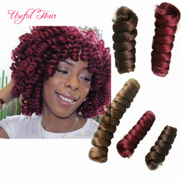 Wholesale Synthetic Hair Extensions White - 10INCH 20INCH HOT SELL Curly kalon synthetic braiding HAIR crochet hair extensions toni saniya curl hot sell for black women white women