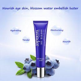 Wholesale Eye Cream Anti Wrinkle - 20g Eye Cream Brand BIOAQUA Skin Care Blueberries Moisturizing Hydrating Whitening Anti Wrinkle Remove Dark Circles Eye Creams