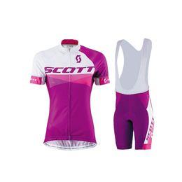 Wholesale Cycling Bib Shorts Women - top quality Team 2016 redscott woman cycling clothing short sleeves jersey + bib short set free shipping maillot+culote ninos ropa ciclismo