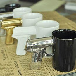 Wholesale Classic Pistols - Wholesale- Creative pistol ceramic Mug pistol coffee Mugs Agents ceramics Mugs For Home travel office 6Color Free shipping