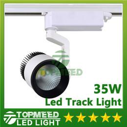 Wholesale Wholesale Indoor Track - DHL CE RoHS LED lights Wholesale 35W COB Led Track Light Spot Wall Lamp Tracking Soptlight AC 85-265V Led indoor lighting