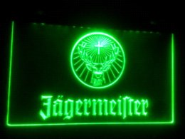 Wholesale Led Electronic Signs - b-182 jagermeister logo LED Neon Light Sign Wholesale Dropshipping dropship electronics dropship bags dropship jewelry