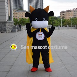 Wholesale Cow Adult Costume Character - New quality cow costume animal mascot costume mascot performance characters of adult clothing