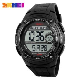Wholesale Stainless Steel Watches Personalized - SKMEI Brand Men Sports Watches Man Multifunction Waterproof Personalized LED Digital Watch Student Big Dial Wristwatches 1203